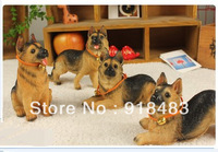 Free shipping (4 pieces/lot)  Creative home furnishings accessories dogs resin decorative ornaments simulation mold hot-selling