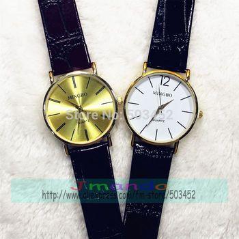 100pcs/lot 3165 MINGBO Brand Ladies Leather Watch Wrap Quartz Dress Watch Excellent Design Casual Wristwatch Wholesale Price