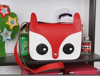 Перевозка груза падения бесплатный ShippingHigh качество 2014 новых женщин дамы сумки на ремне , мода сумки школа сумка сова фокс PU женщин сумки скидка