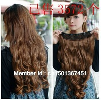 Free shipping Hotsale Synthetic Hair Clip in wavy light brown  cosplay fashion wigs 2013