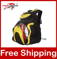 Motorcycle Helmet bag Waterproof High capacity Backpack Pro-biker G012 black/yellow Free/Drop Shipping