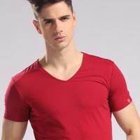 Slim Men's wear short-sleeved short  man short-sleeved's t-shirts 3D Brand shirt cotton t shirt for men tshirt famous shirt