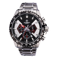 Men Brand Watches Multifunction Fashion Sport Watches Stainless Steel Luxury Wristwatch 100M Waterproof 8103