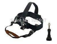 New 2014 Smatree Adjustable camera Head Strap Mount+Aluminum Thumb screw for Gopro HD Hero Hero2 &Hero3+ Hero3 cameras (Black)