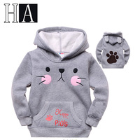 New Year Costume Children High Quality Hoodies Boys Girls Autumn Spring Winter Warm Cat Hooded Pullover Kids Fashion Sweatshirts