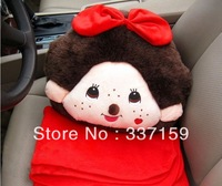 Free shipping kawaii monchhichi soft plush stuffed pillow &seat pillow & car pillow for girls gift wedding and christmas gift
