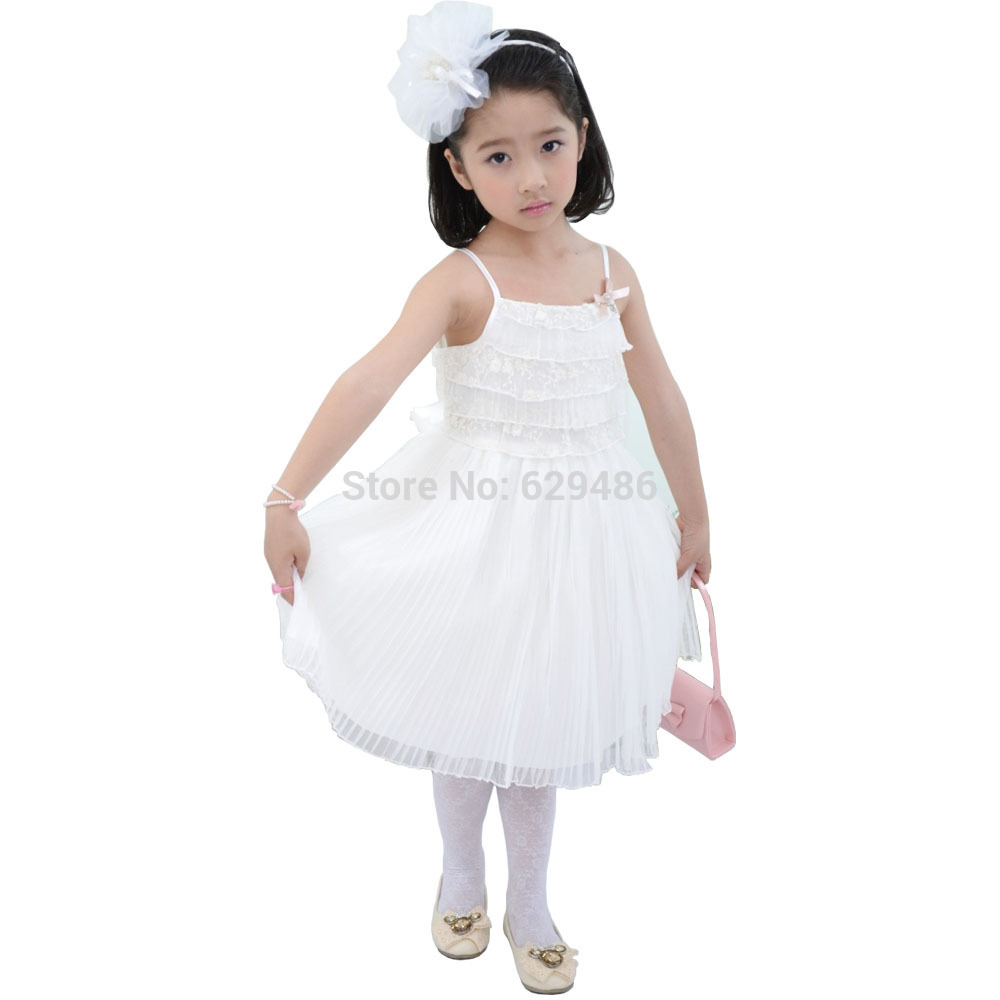 2014 Limited New Flower Girl Free Shipping Factory Directly Selling Latest Design Sexy Bead Lace Girl Dress For Children Free(China (Mainland))
