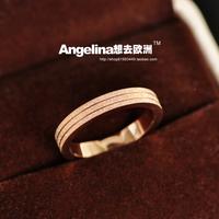 FREE SHIPPING~New Jewelry Matte Shining Titanium 18k Rose Gold Plated Women Ring