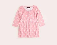 girls pink polka dot sweater dress children clothing 3-8T  free shipping