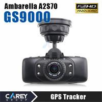 Original GS9000 1080P Car DVR 178 degrees  GPS 2.7 inch ambarella Novatek hd camcorder car recorder