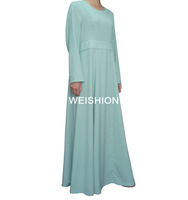 WS012 cool feeling high quality composite fabric lady fashion abaya islamic clothing for women