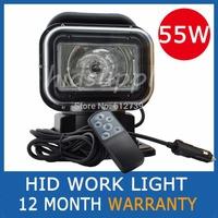 55W HID EXNON SPOTLIGHT SPOT LIGHT LAMP SEARCHLIGHT BOAT CAR WIRELESS REMOTE