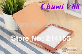 7.9 inch speical leather case cover for Chuwi V88 Chuwi V88S Quad core Mini pad tablet pc black and brown color
