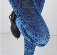Hot !!! Floral Pleuche Corduroy Leggings for Women Stretchy Hollow Out Women Pencil Leggings Leggings Pants 2 Patterns