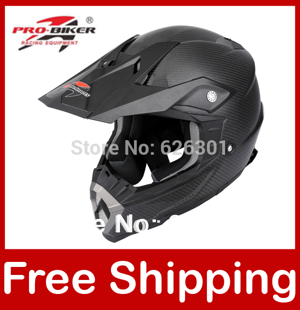 Motocross Helmet Black Carbon Fiber Dirt bike Off road Motorcycle Helmet Full face Black XS/S/M/L/XL/XXL HX-Helmets H601(China (Mainland))