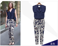 2014 Top Fasion Freeshipping High Quality Clothes Woment Jumpsuits Sleeveless Garment Haroun Pants Overall 669 002