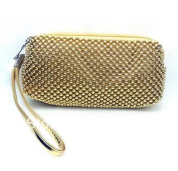 Shiny  Fashion Metal beaded women's handbag and purse
