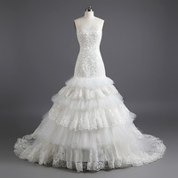DMW022 Dreamaker 2013 vintage popular layered aliexpress real pictures of wedding bridal dress