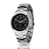 New  2014 Fashion Designer Sports Casual Brand Watch Quartz Watches Men Stainless Steel WristWatch (Silveren S138)