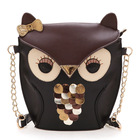 2013 new fashion women leather handbag cartoon bag owl shoulde