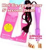 Fast Heated!! Without free rhinestones Purple Iron-on Hot Fix Rhinestone Applicator Wand 1pcs/lot Heat-fix Tool Free Shipping