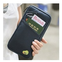 Free shipping Fashion New Travel Passport Credit ID Card Cash Holder Organizer Wallet Purse Case Bag Multicolor