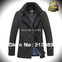 2014 New arrival men jacket thicken woolen winter jacket for men coats costume male clothing winter and autumn coat mens jacket