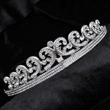 Free shipping bridal flower crown wedding tiara Bridal Wedding luxury crystal Hairbands Party Prom Jewelry wholesale