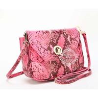2014 new fashion Luxury snake embossed the first layer genuine leather handbag women  handbags fashion  GD-2381P free shipping