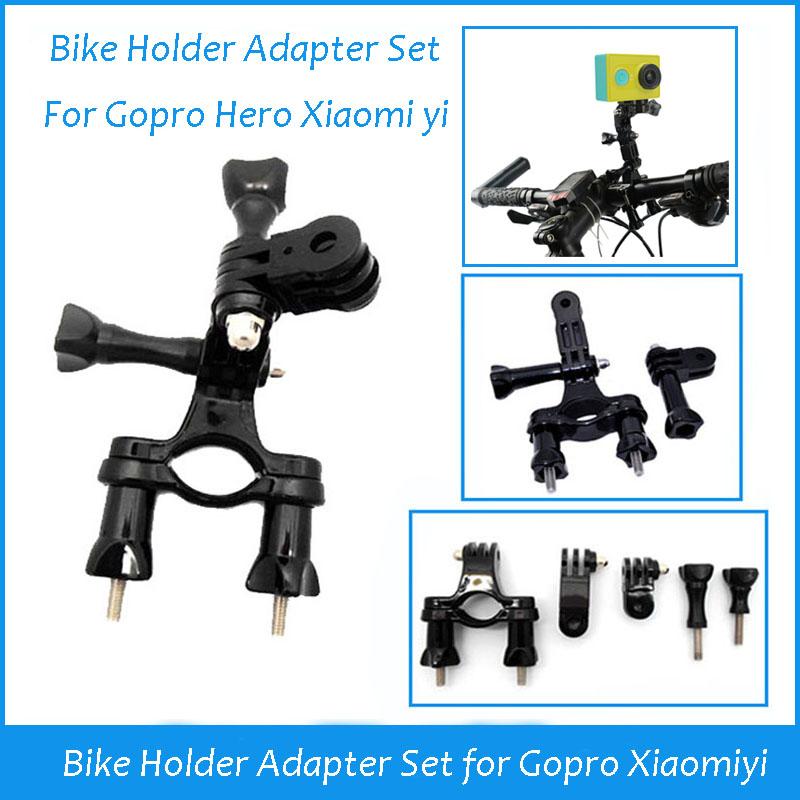 Gopro Mount Accessories Go Pro Bike Holder Adapter Set Handlebar For SJ4000 Gopro camera Hero 3 Hero 3+ 2 New 2014(China (Mainland))