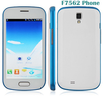 F7562 SC6820 1.0GHz  android cell phones unlocked 4.0 Inch Capacitive screen Camera 5.0MP mini cellphone