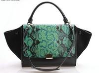 High Quality Women's Shoulder bags Brand Designer Women Leather handbags Snake Pattern shoulder Totes Handbags Genuine Leather