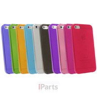 New Ultra Thin Soft Translucent Rugged Silicon Matte Gel Case Cover for iPhone 5
