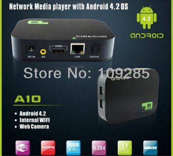 HD Media Player Video Streamer 4GB Google Android 4.2 Dual Core WIFI WLAN Smart TV Box Internet  XBMC Media Player HDMI YOUTUBE