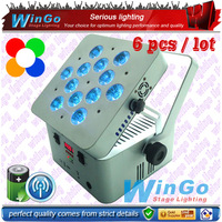WG-G3038A  12x10w RGBW 4-in-1 (6 lights + a charging case) / Set. Stage high power wireless battery uplight
