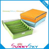 Free shipping 7 Grids wholesale basket New 2013 underwear socks bra hot selling bamboo storage bag