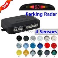 Car Parking Sensors Backup Radar System with LED Backlight Display + 4 Sensors