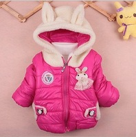 Fall Winter children's minnie clothes new 2013 retail Boys Girls Long Sleeve Quilted jacket Children Clothing kids outerwear