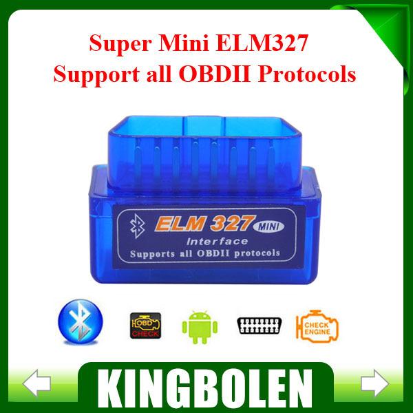 2014 Top-Rated New Super Mini ELM327 Bluetooth Interface V2.1 OBD2 II Car Auto Diagnostic Tool Mini ELM 327 in stock(China (Mainland))