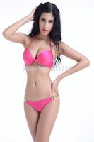 2013 Brand New Sexy Swimwear Women Push-up Cups Bikini Set Sexy Lady Swimsuit Hot Sale Bathing Suit 3 Colors