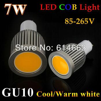 High Bright Dimmable GU10 7W9W COB Led Bulbs Light 120 Angle GU10 Warm/Cool White Led Spotlights Lamp Dimmable 110-240V