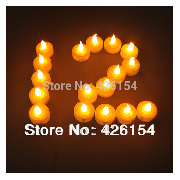 50pcs/lot Led Candle LED Smokeless flameless Bat