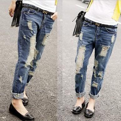 Модные женские джинсы 2 16: фото рваные