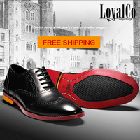New Free  Express Shipping Men's Dress Flats Men's Shoes Oxfords Genuine Leather Footwear Cowskin Upper Leather Lined Lace Up