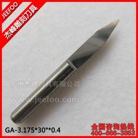 3.175*30Degree*0.4  Jeefoo Flat Bottom Milling Tools/ CNC Engraving Bits/ V Shape PCB Cutters On MDF/ Wood/ Acrylic/ Plastic