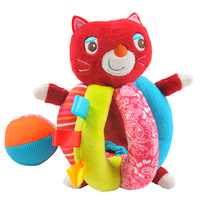Hessie Baby Toys rattle function Cat Animals pp cotton stuffed plush Dolls brinquedos Present multifunction toys free shipping