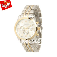 Metal Watch Geneva Luxury Watch Without Crystal 52pcs/lot,Stainless Steel ,3colors Available Good Quality Stainless Steel Watch