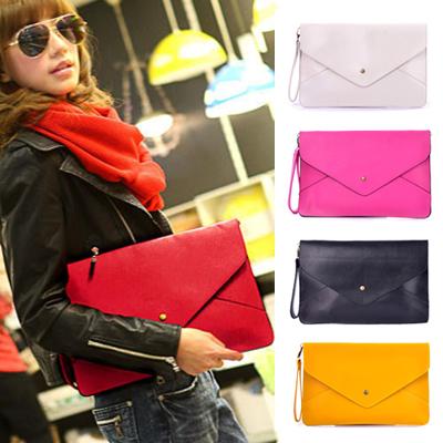 2014 new wholesale women handbag shoulder cross-body bag envelope evening bag women clutch bag messenger bagWFCCL00199(China (Mainland))