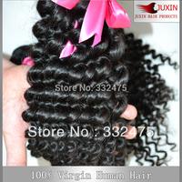 "2pcs/Lot  100% Peruvian Deep Curly Virgin Human Hair Bundles 8""-34'' Luffy Hair Product  Hair Weft DHL Free Shipping"