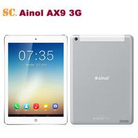 New 9.7 Inch Ainol AX9 3G Phone Call Tablet PC MTK8382 Quad Core 1.3GHz Android 4.2 1GB 8GB Bluetooth GPS 2.0MP Camera WCDMA